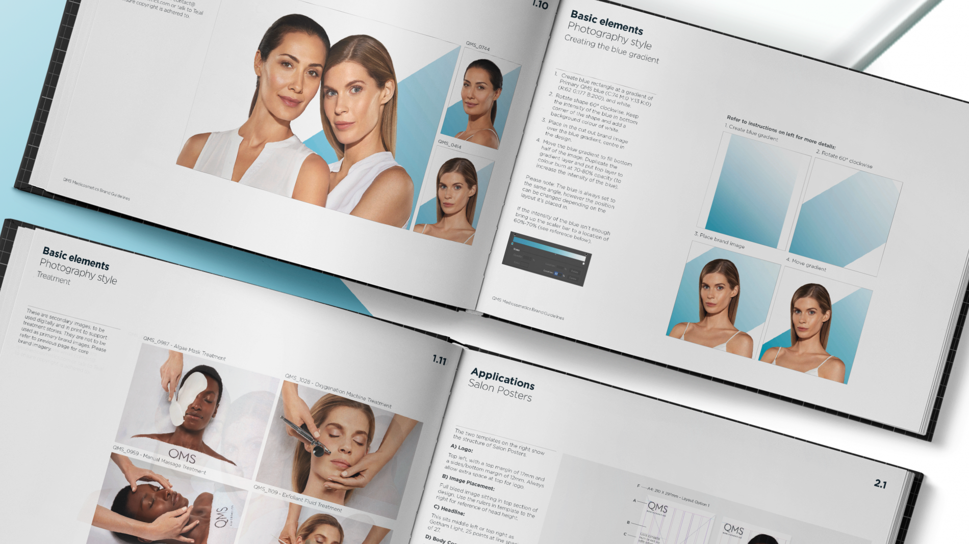 QMS cosmetics brand guidelines