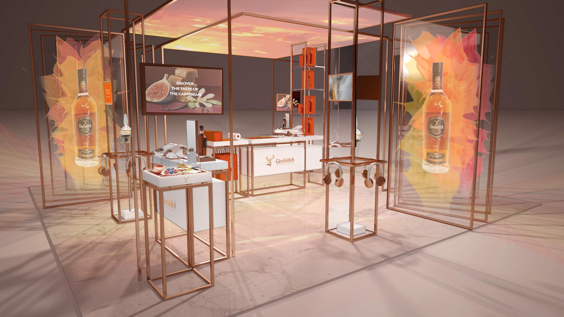 Glenfiddich pop up retail concept visual