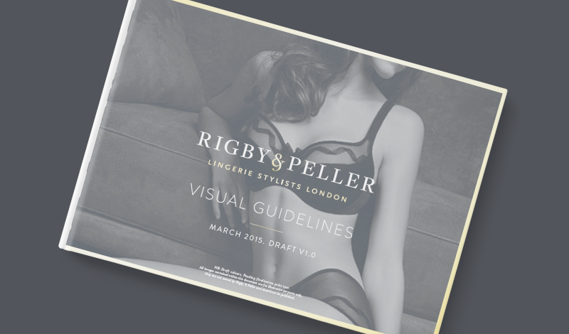Rigby & Peller brand guidelines booklet cover