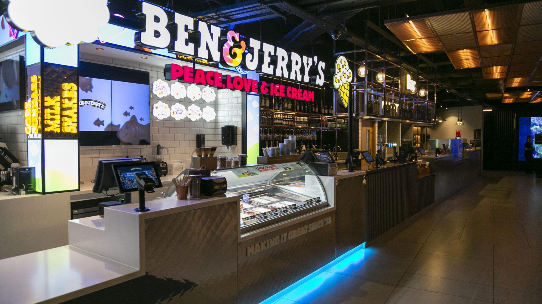 Ben and Jerry's Vue cinema ice cream kiosk