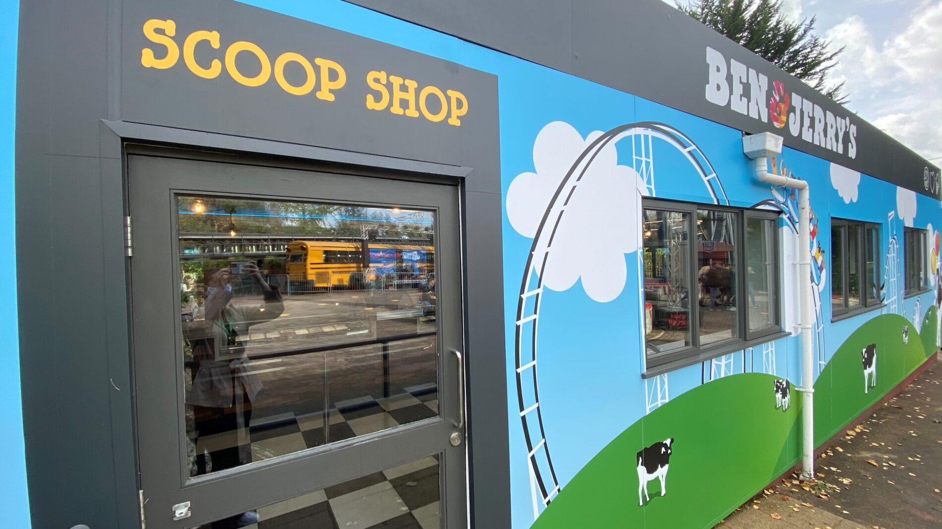 Ben and Jerry's Thorpe Park scoop shop exterior
