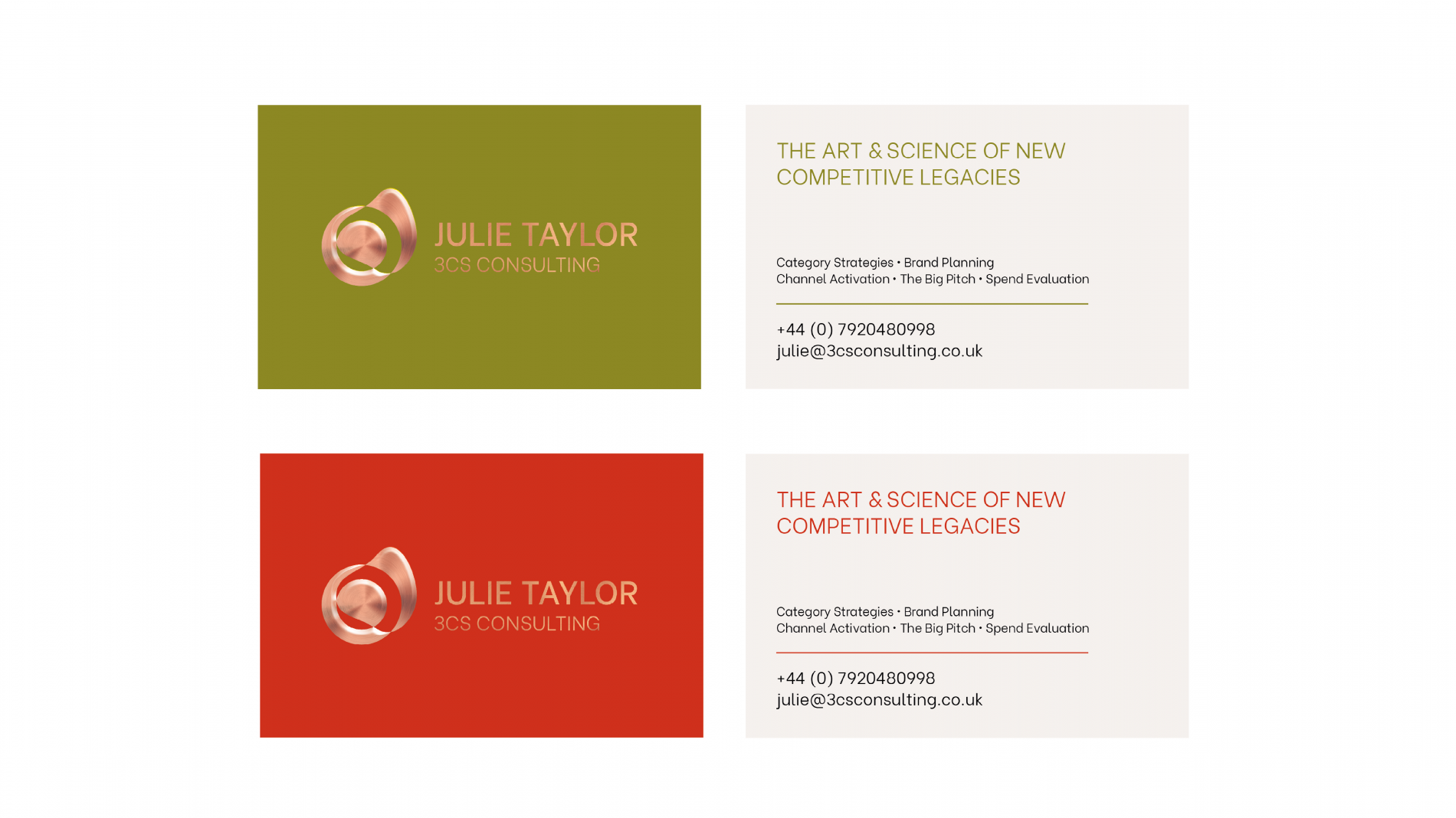 Julie Taylor 3CS consulting marketing collateral