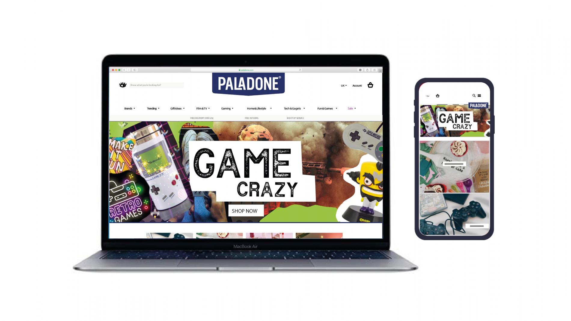 Paladone website and digital assets