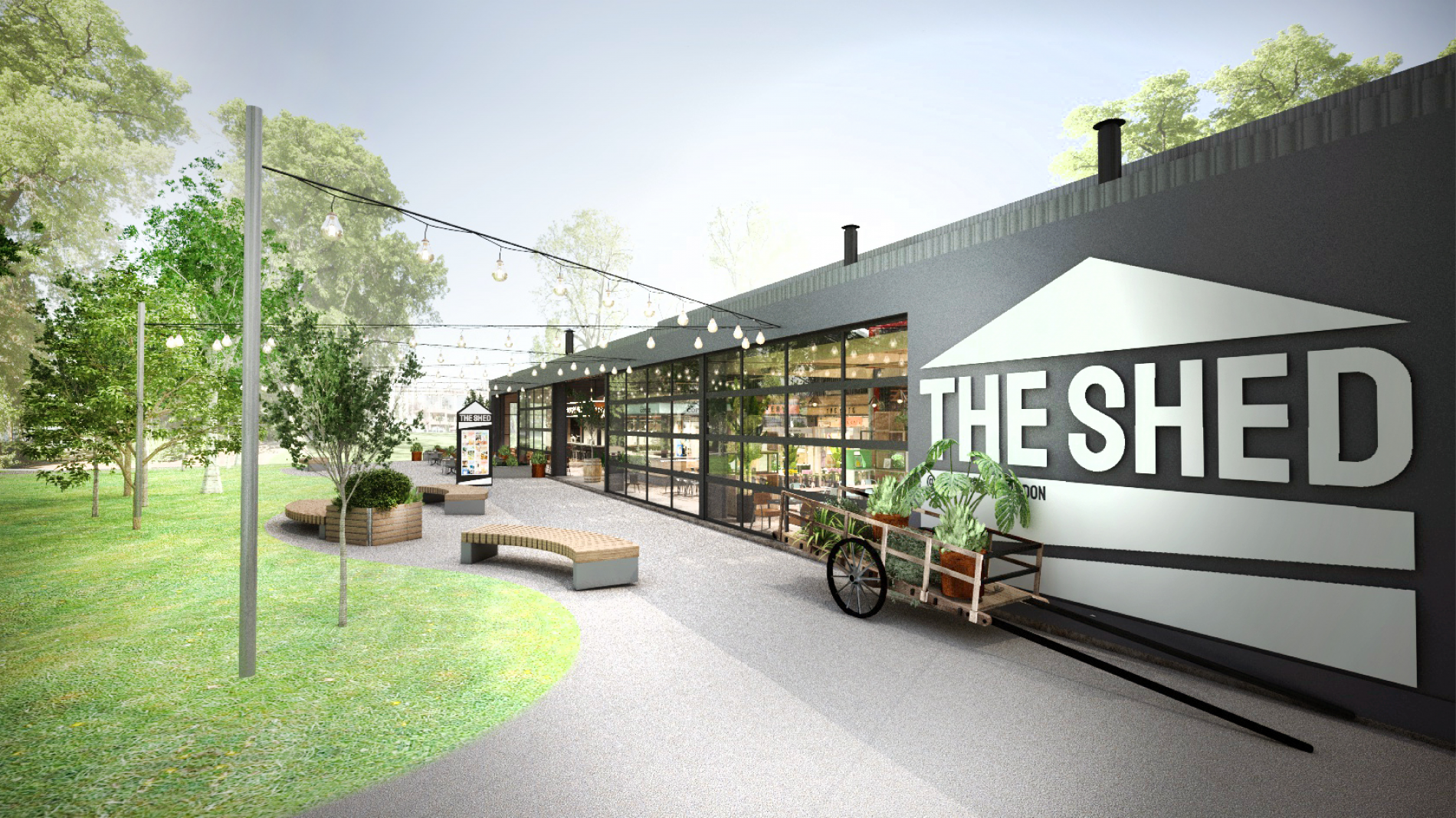 The Shed exterior design visual
