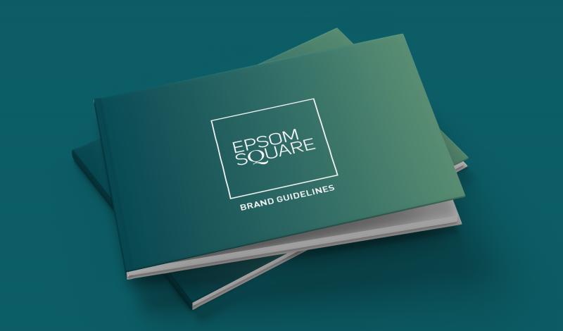 Epsom Square shopping centre brand guidelines cover