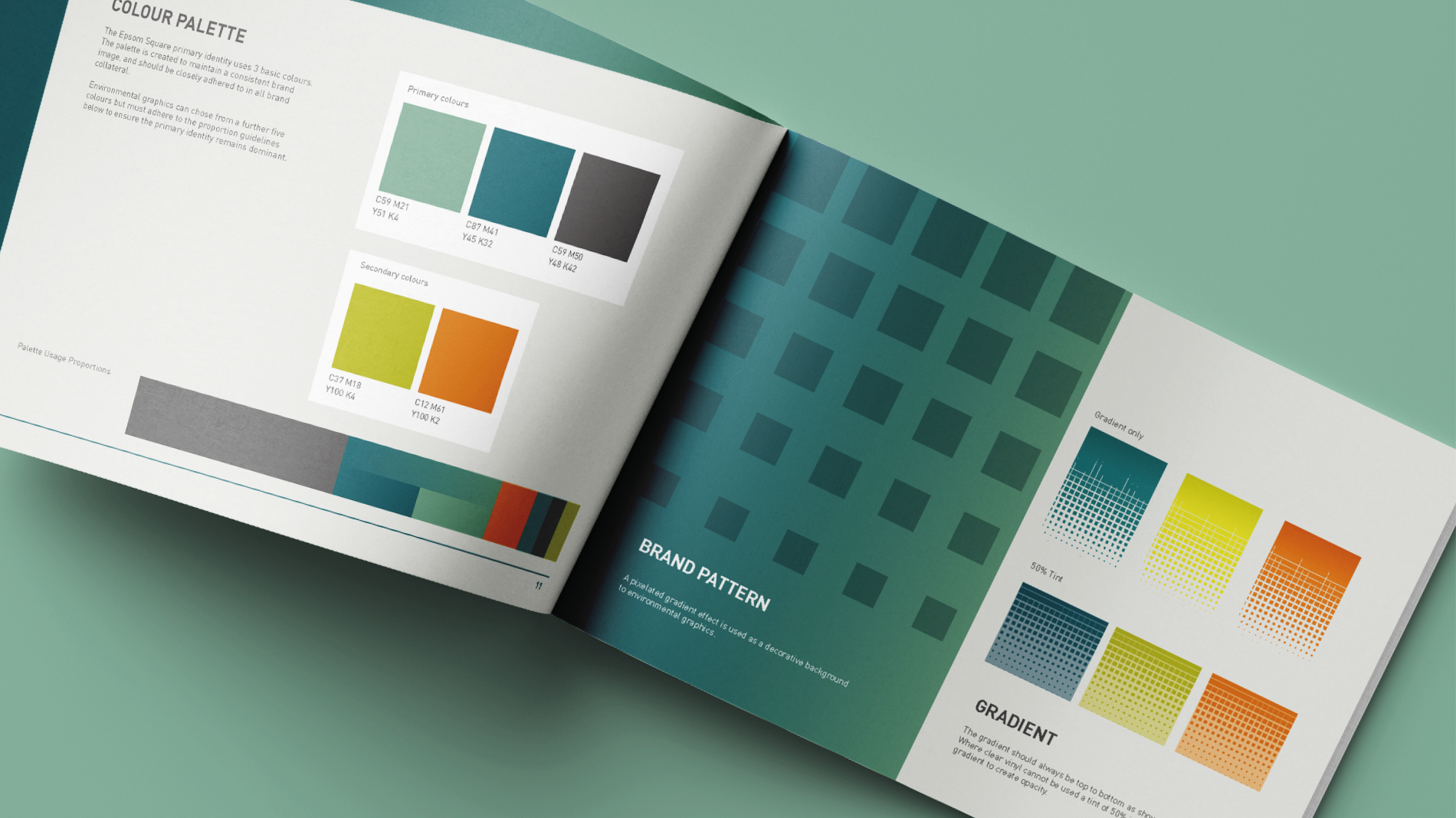 Epsom Square brand guidelines crop ins