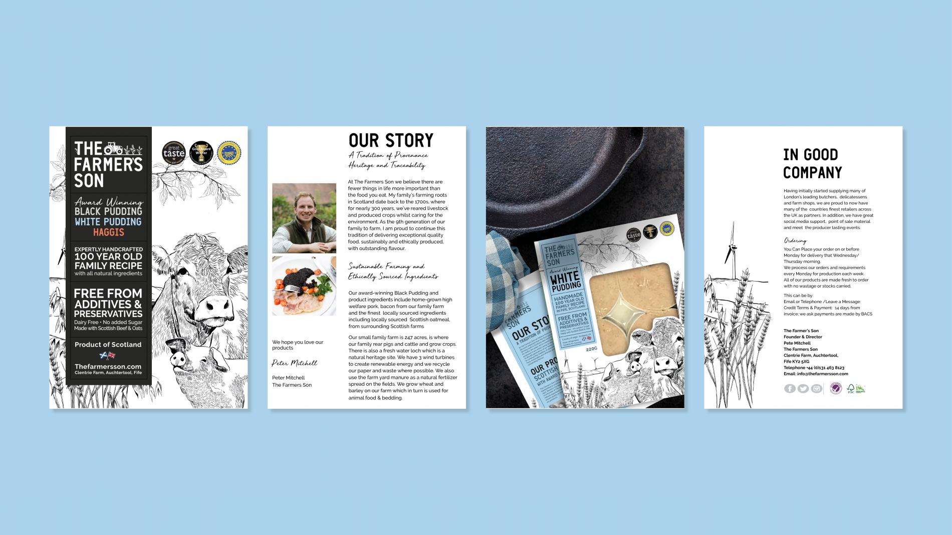 The Farmer's Son brand brochure